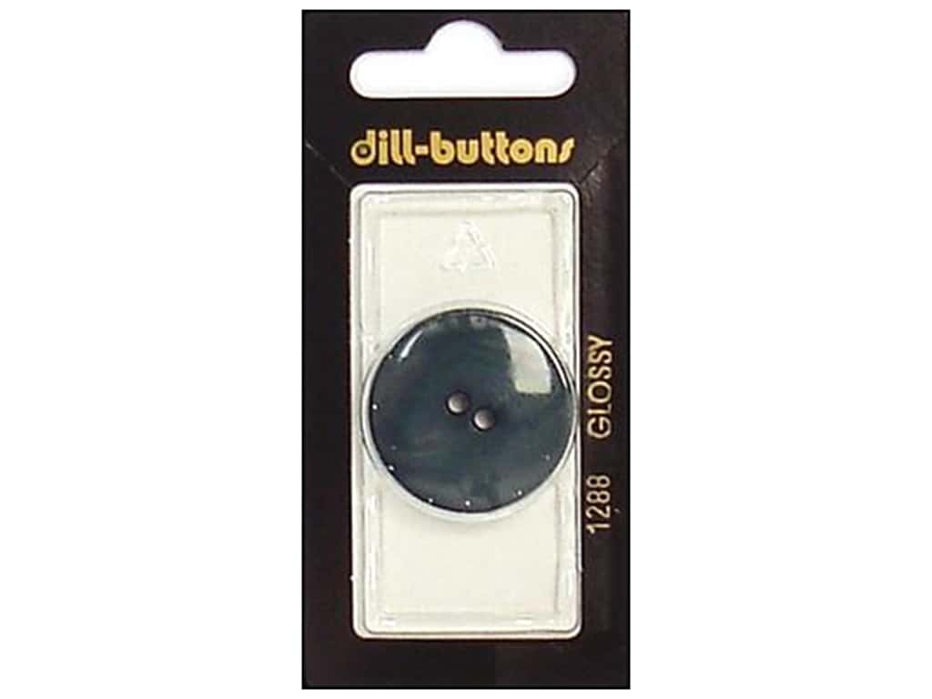 Dill 2 Hole Buttons 1 1/8 in. Dark Green #1288 1 pc.
