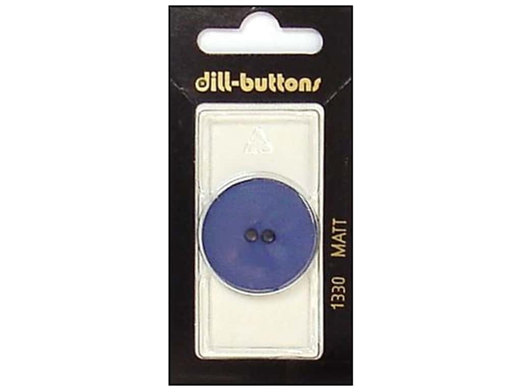 Dill 2 Hole Buttons 1 1/8 in. Blue #1330 1pc.