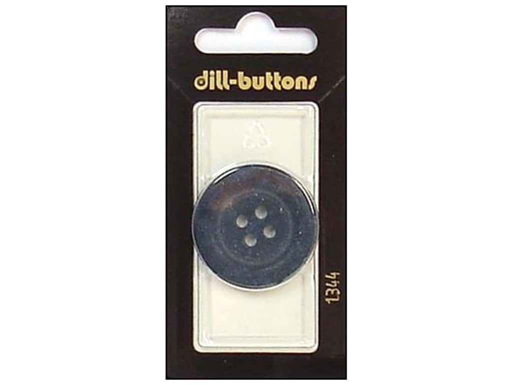 Dill 4 Hole Buttons 1 1/4 in. Navy #1344 1 pc.