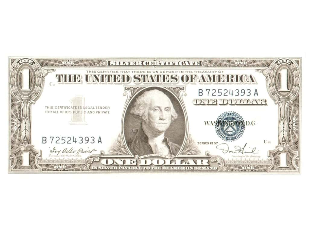 Paper House Diecut Blank Card U.S. Dollar Bill