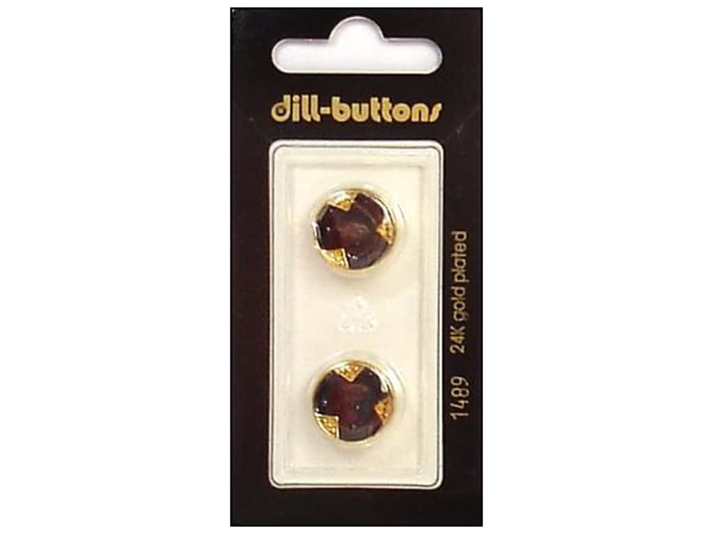 Dill Shank Buttons 5/8 in. Enamel Navy/Gold #1489 2 pc.