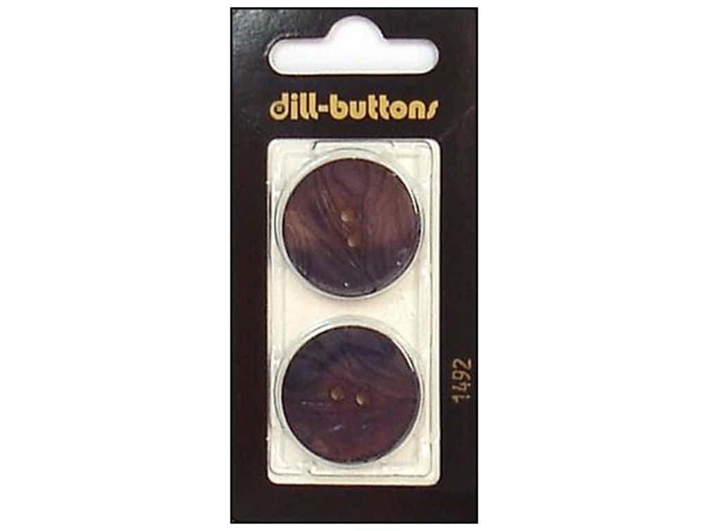 Dill 2 Hole Buttons 1 in. Navy #1492 2 pc.