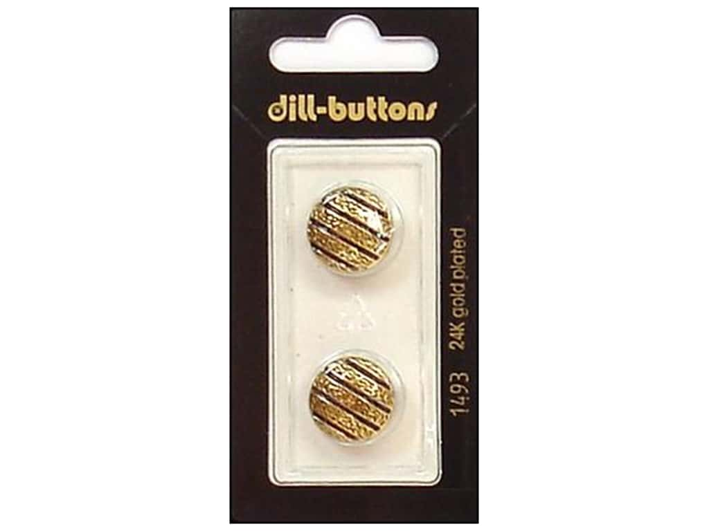 Dill Shank Buttons 5/8 in. Enamel Navy/Gold #1493 2 pc.