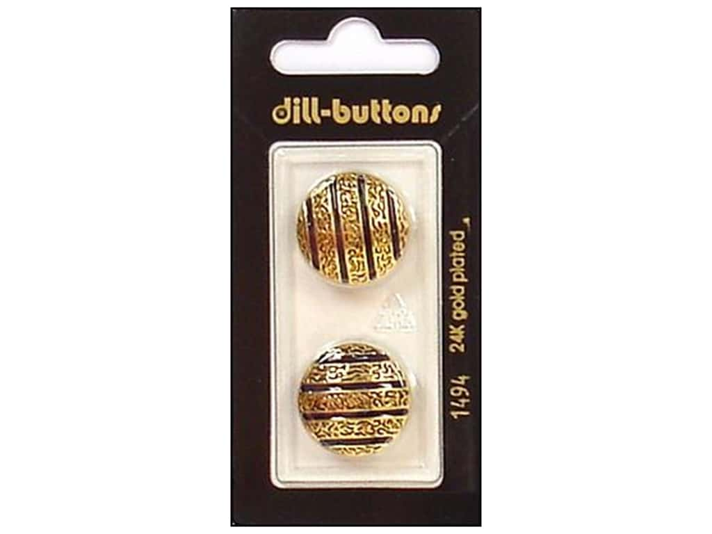 Dill Shank Buttons 13/16 in. Enamel Navy/Gold #1494 2 pc.
