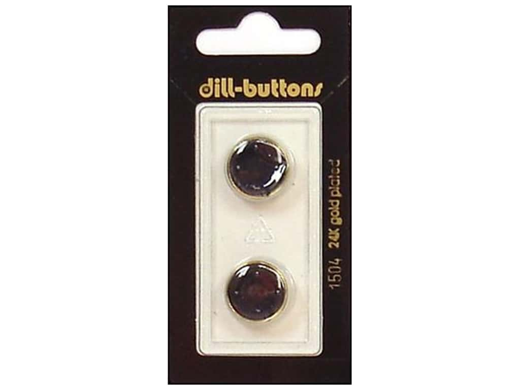 Dill Shank Buttons 5/8 in. Enamel Navy/Gold #1504 2 pc.
