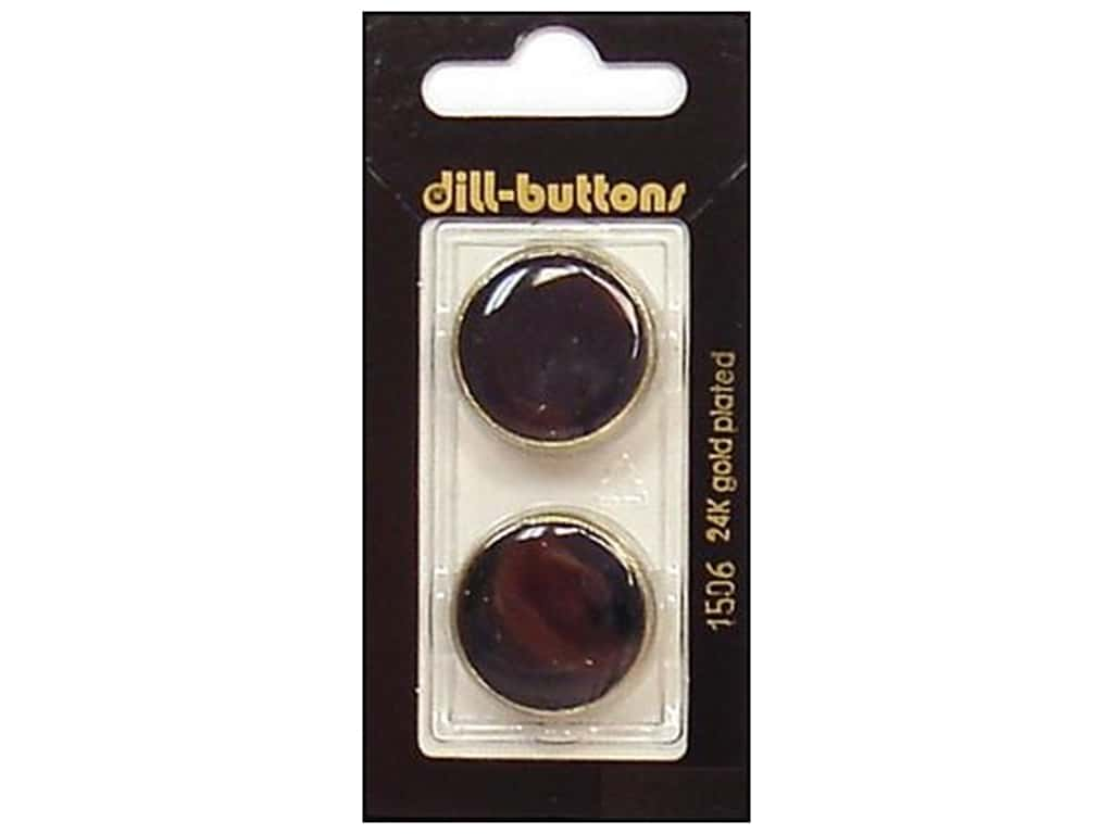 Dill Shank Buttons 7/8 in. Enamel Navy/Gold #1506 2 pc.