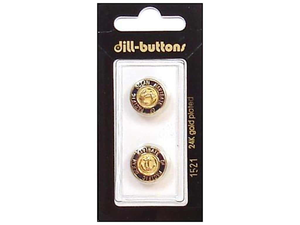 Dill Shank Buttons 5/8 in. Enamel Navy/Gold #1521 2 pc.