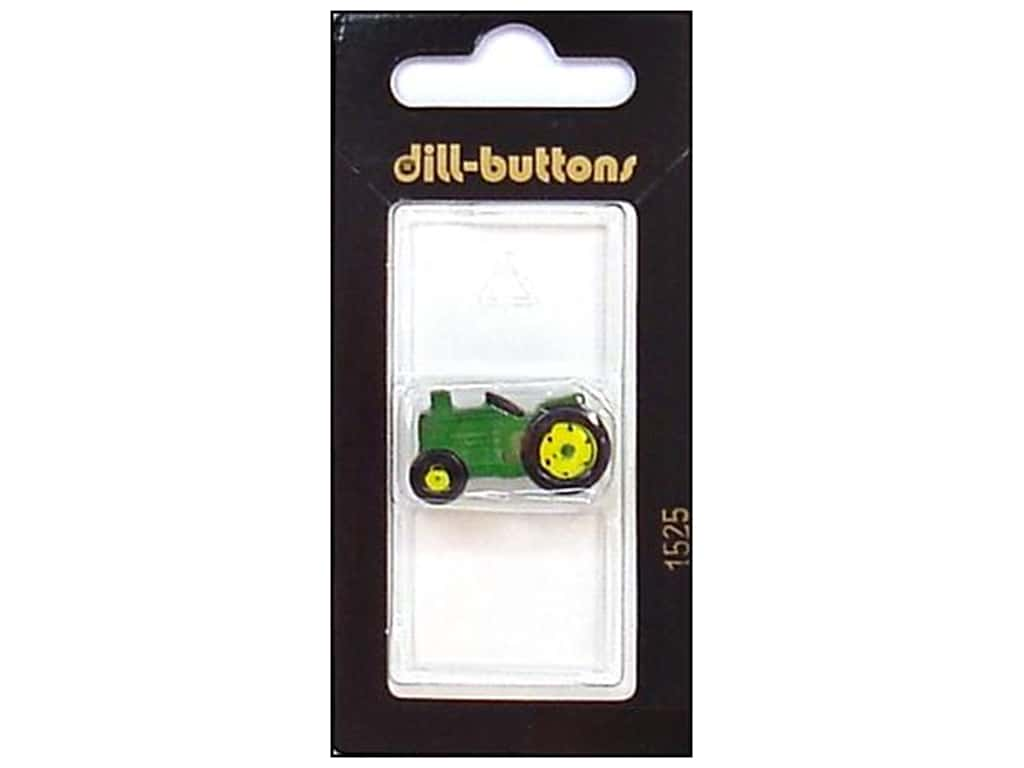 Dill Shank Buttons 1 in. Green Tractor #1525 1 pc.