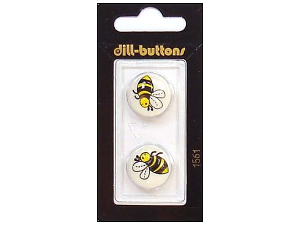 Dill Shank Buttons 11/16 in. Bee #1561 2 pc.