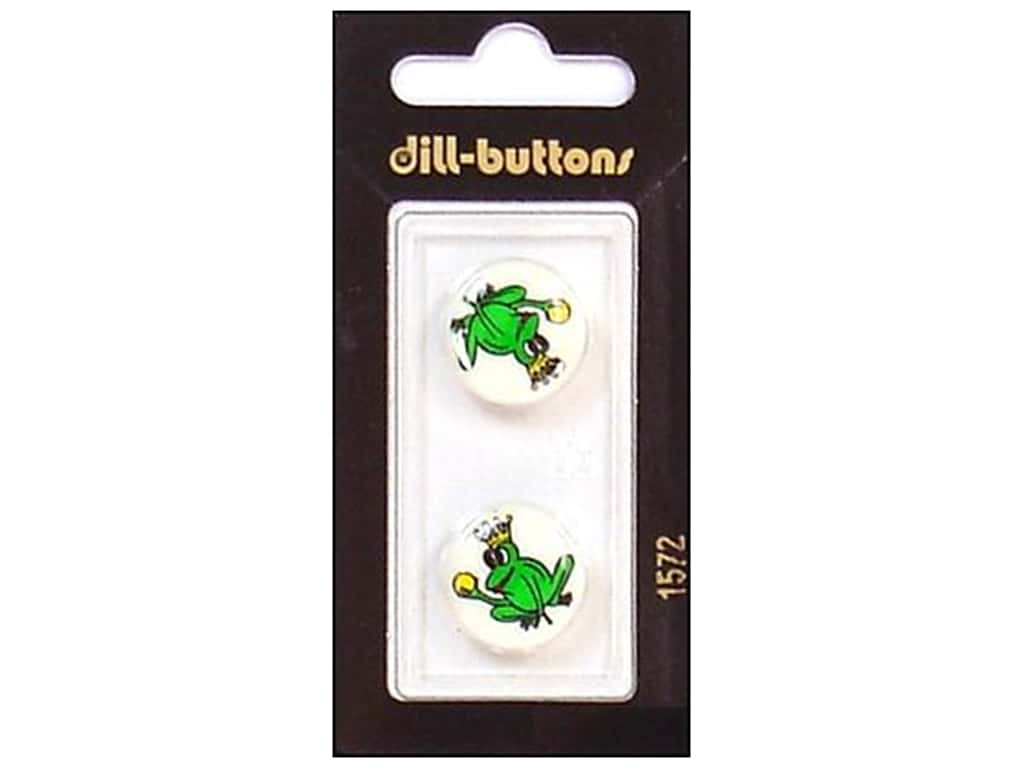 Dill Shank Buttons 11/16 in. Green Frog Prince #1572 2 pc.