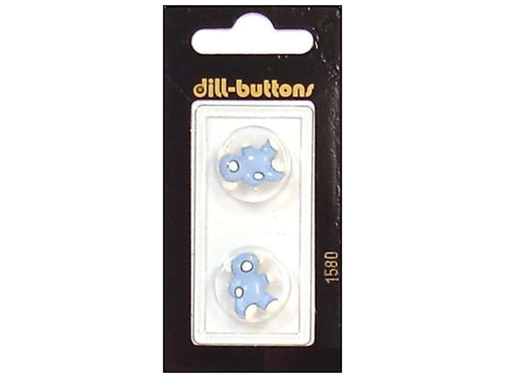 Dill Shank Buttons 11/16 in. Blue/White Bear #1580 2 pc.