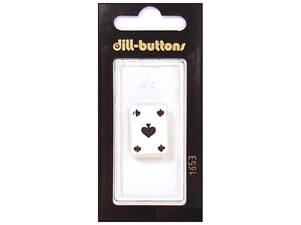 Dill Shank Buttons 13/16 in. Ace of Spades #1653 1 pc.