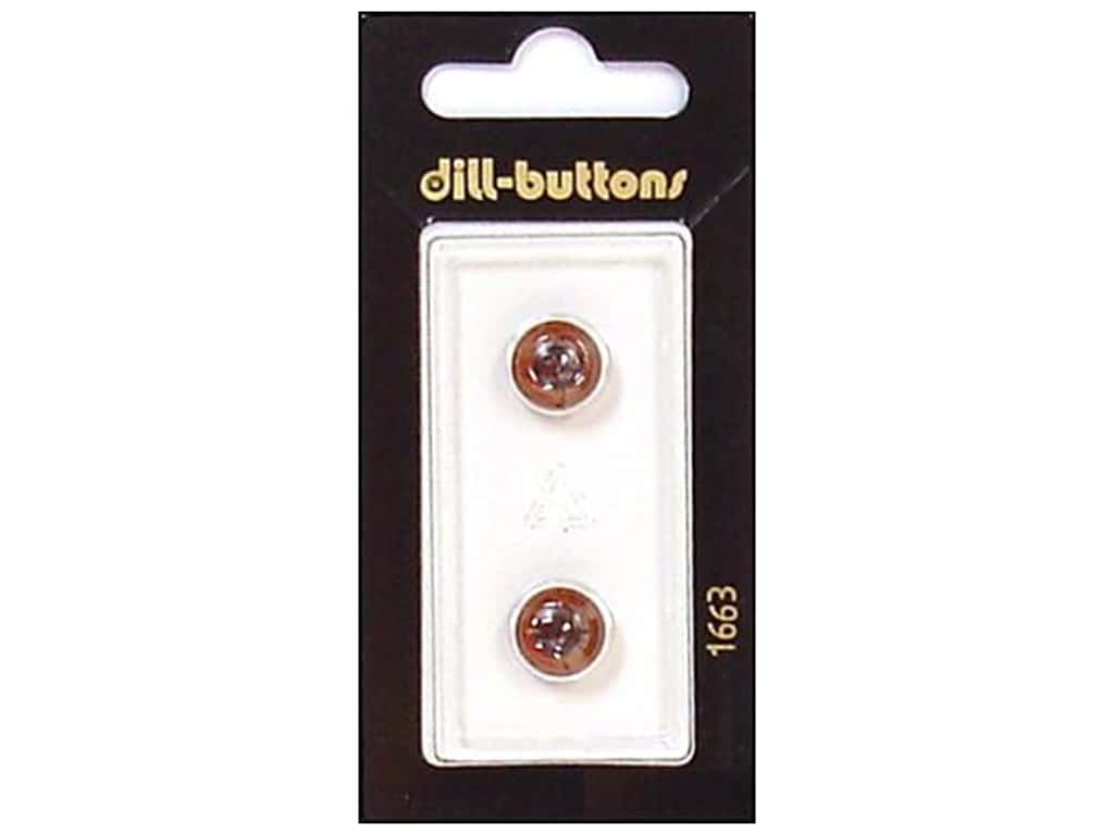 Dill Shank Buttons 3/8 in. Brown Eye #1663 2 pc.