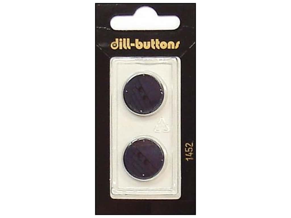 Dill 2 Hole Buttons 11/16 in. Navy #1452 2 pc.