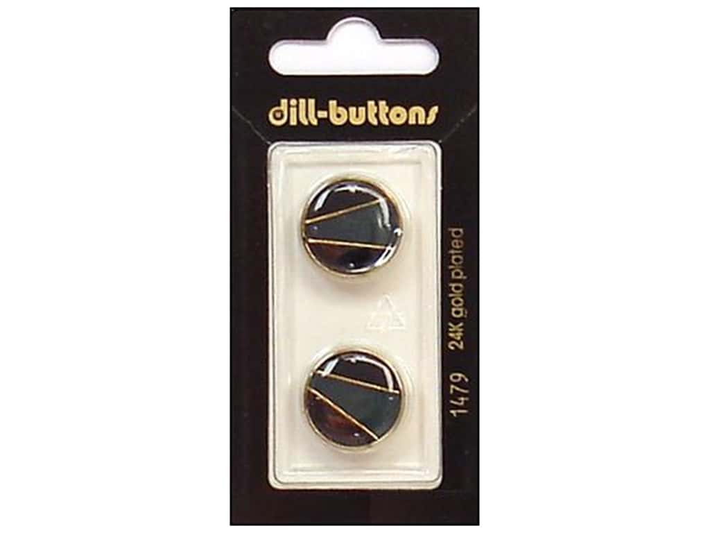 Dill Shank Buttons 11/16 in. Enamel Navy/Gold #1479 2 pc.