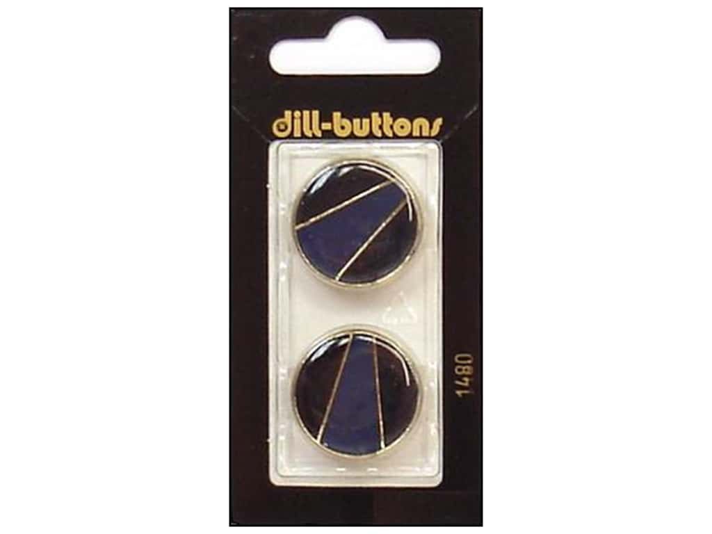 Dill Shank Buttons 7/8 in. Enamel Navy/Gold #1480 2 pc.