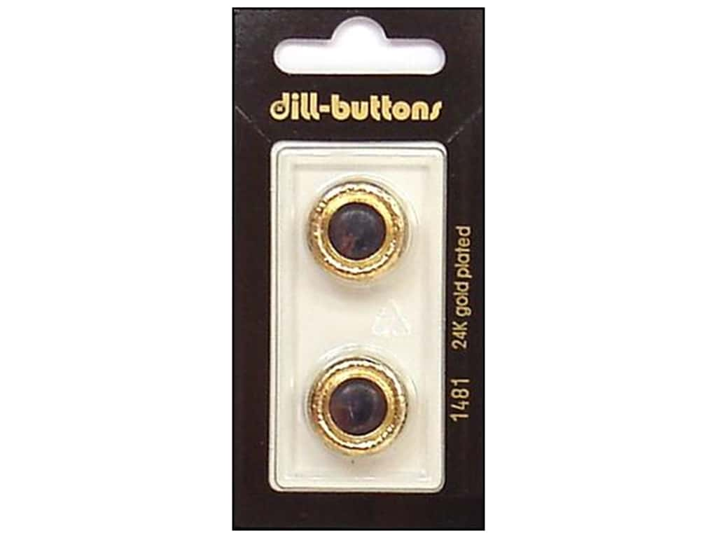 Dill Shank Buttons 11/16 in. Navy/Gold Metal #1481 2 pc.