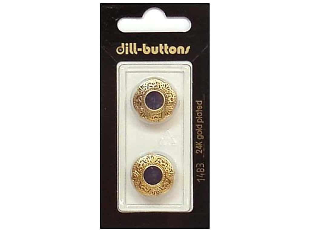 Dill Shank Buttons 11/16 in. Enamel Navy/Gold #1483 2 pc.
