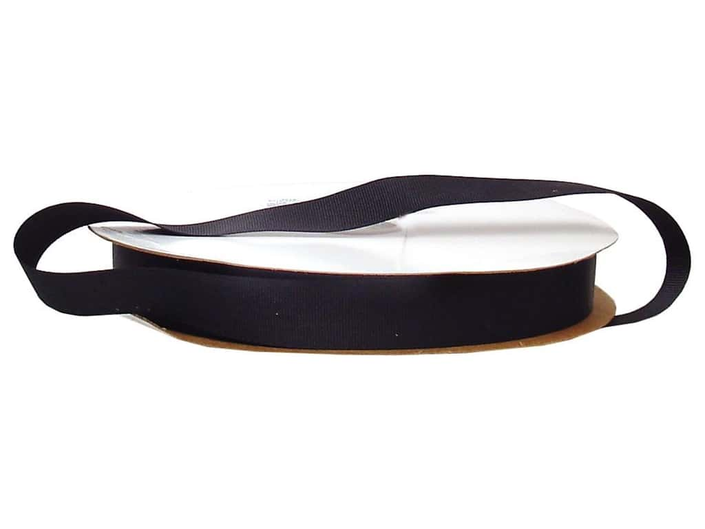 Offray Grosgrain Ribbon 7/8 in. x 100 yd. Black (100 yards)