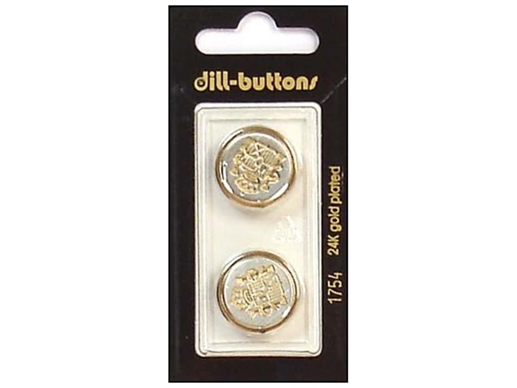 Dill Shank Buttons 13/16 in. Gold/Silver Metal #1754 2 pc.