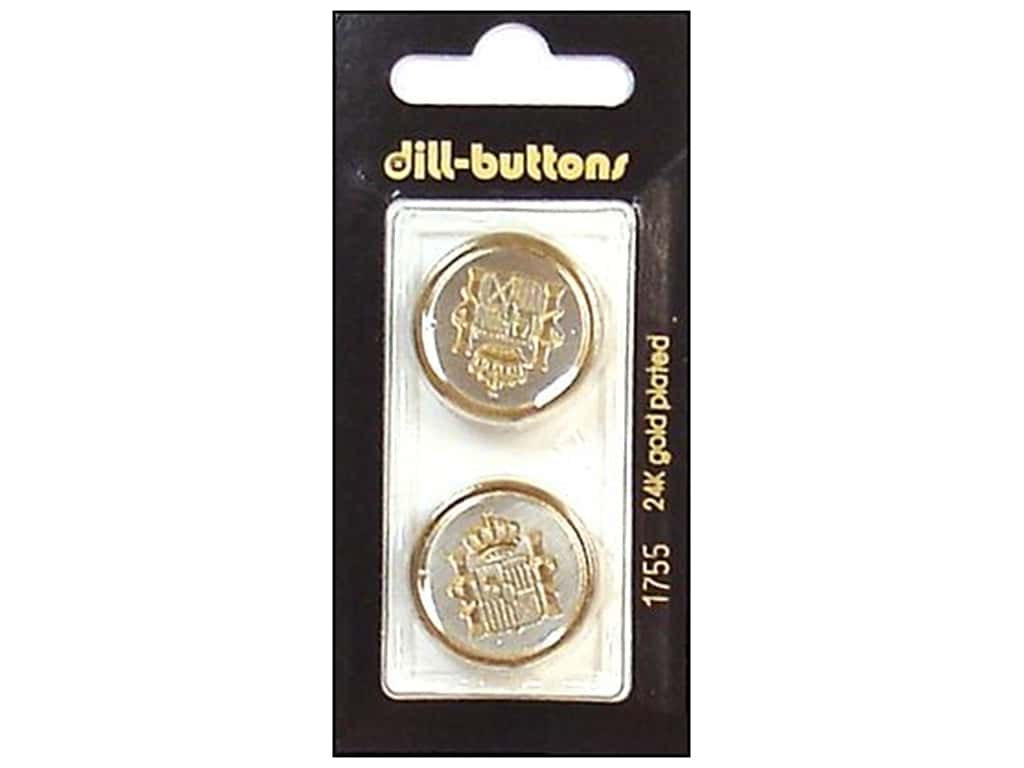 Dill Shank Buttons 7/8 in. Gold/Silver Metal #1755 2 pc.