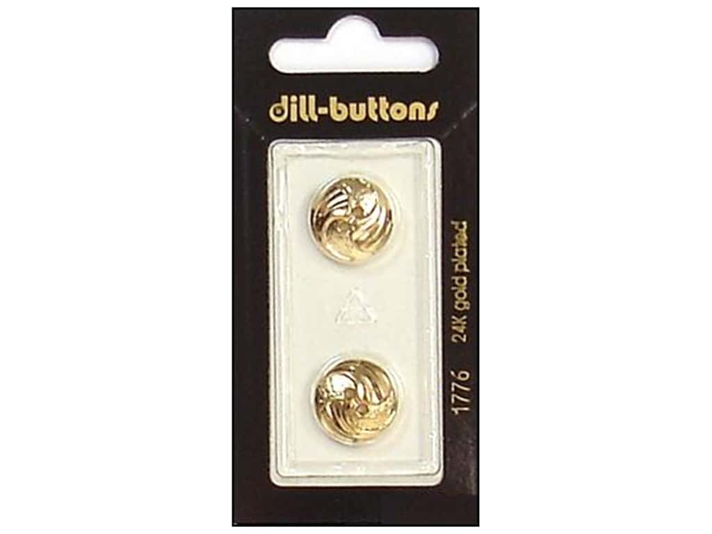 Dill 2 Hole Buttons 5/8 in. Gold #1776 2 pc.