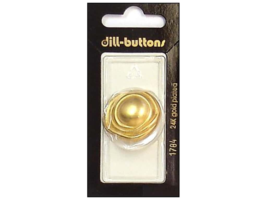 Dill Shank Buttons 1 1/8 in. Matte Gold #1784 1 pc.
