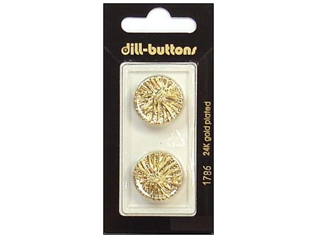 Dill Shank Buttons 13/16 in. Gold #1786 2 pc.