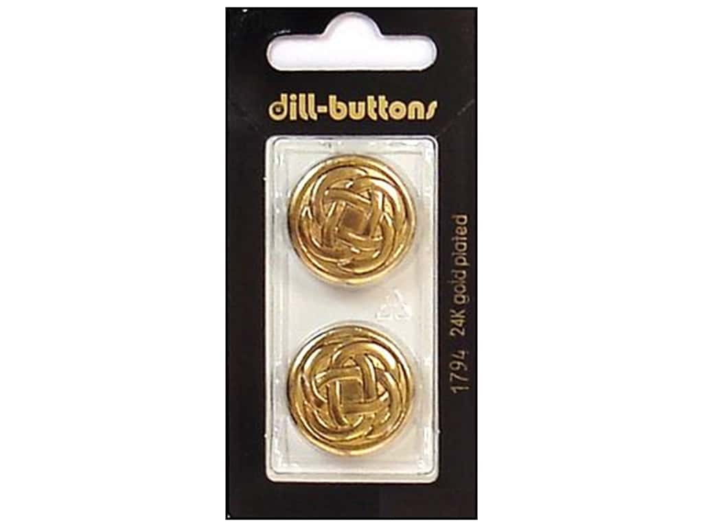 Dill Shank Buttons 7/8 in. Antique Gold Metal #1794 2 pc.