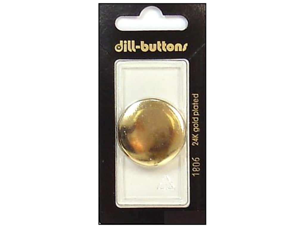 Dill Shank Buttons 1 1/8 in. Gold Metal #1806 1 pc.