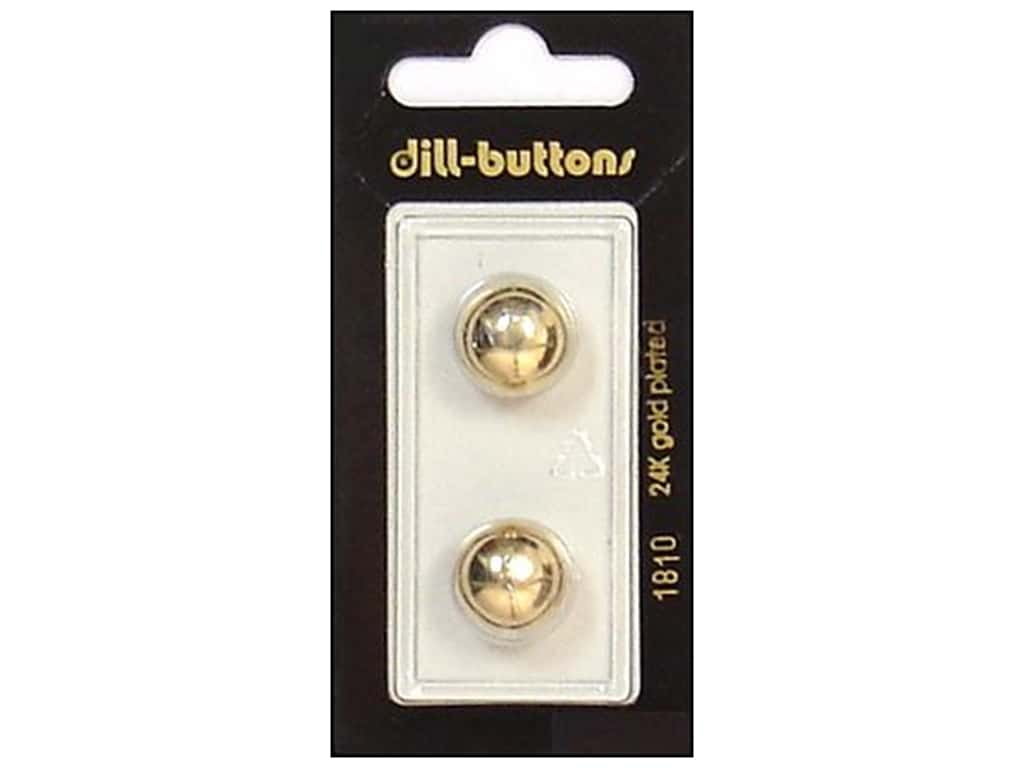 Dill Shank Buttons 9/16 in. Gold #1810 2 pc.