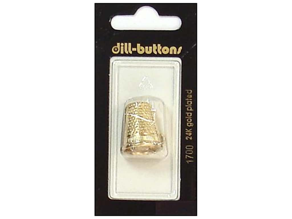 Dill Buttons 13/16 in. Gold Thimble Charm #1700 1 pc.