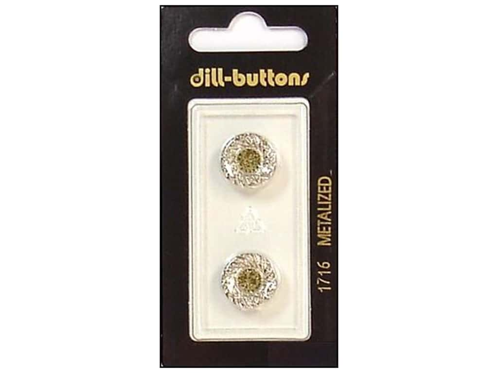Dill Shank Buttons 9/16 in. Silver #1716 2 pc.