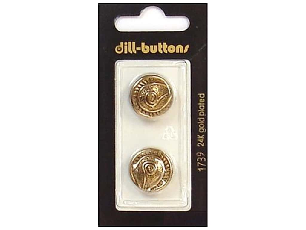 Dill Shank Buttons 11/16 in. Antique Gold Metal #1739 2 pc.