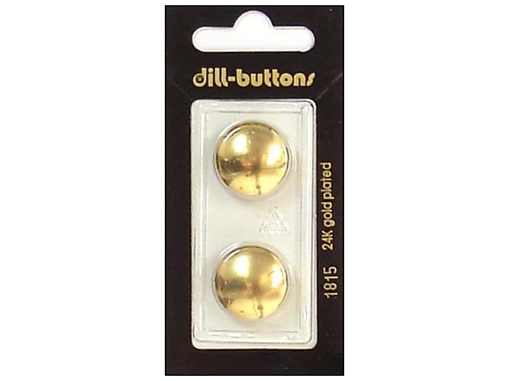 Dill Shank Buttons 11/16 in. Gold #1815 2 pc.