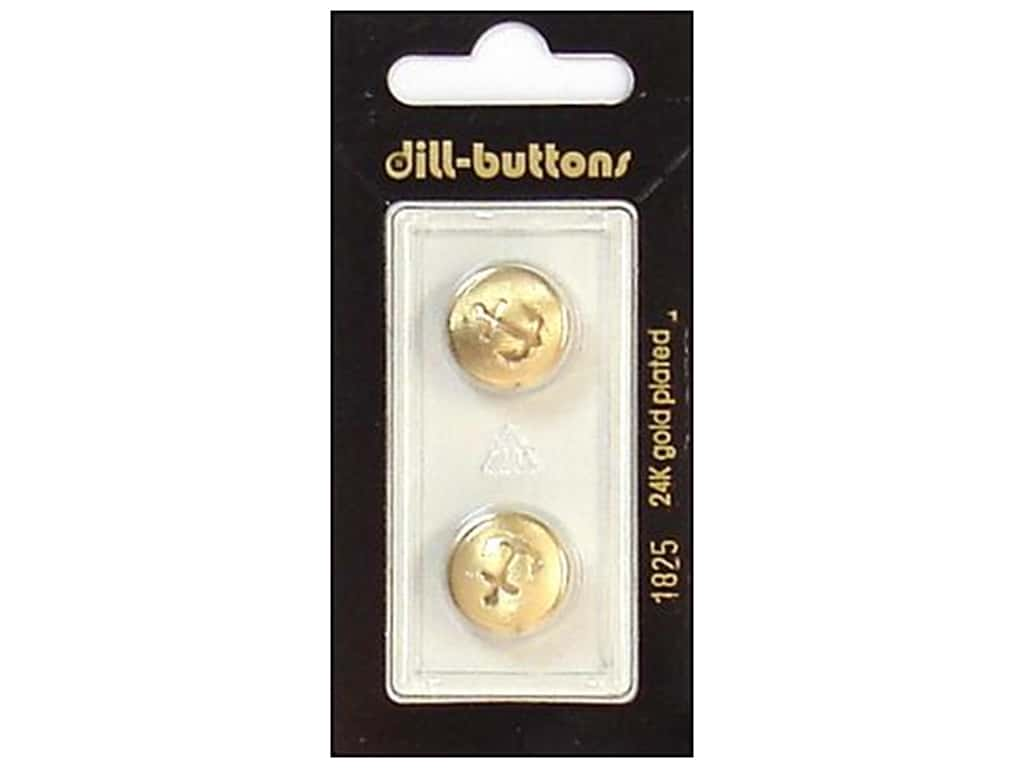 Dill Shank Buttons 5/8 in. Gold #1825 2 pc.