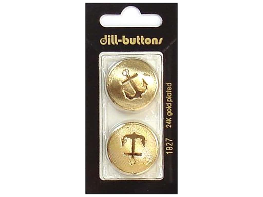 Dill Shank Buttons 1 in. Gold #1827 2 pc.