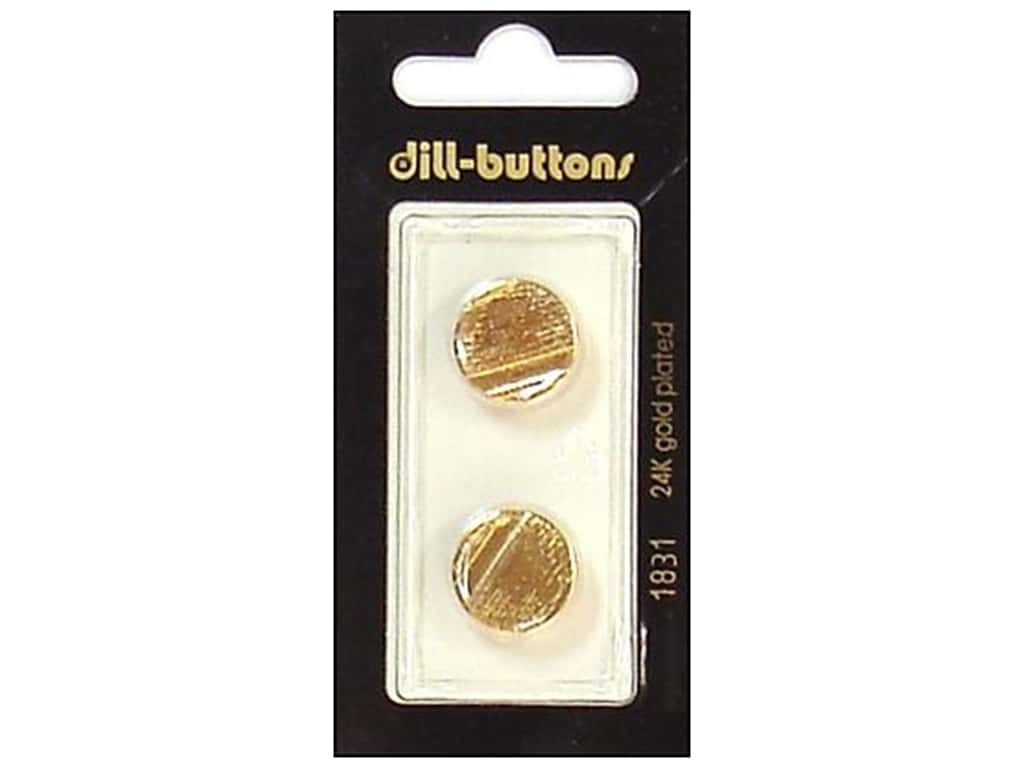 Dill Shank Buttons 5/8 in. Gold #1831 2 pc.