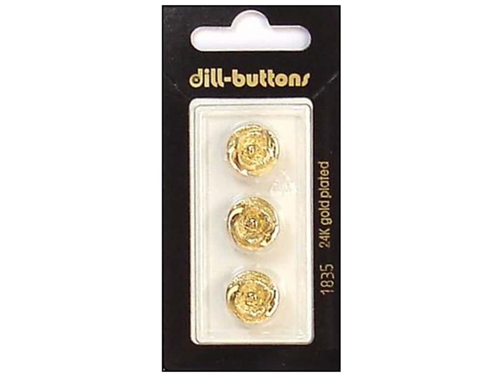 Dill Shank Buttons 1/2 in. Gold #1835 3 pc.