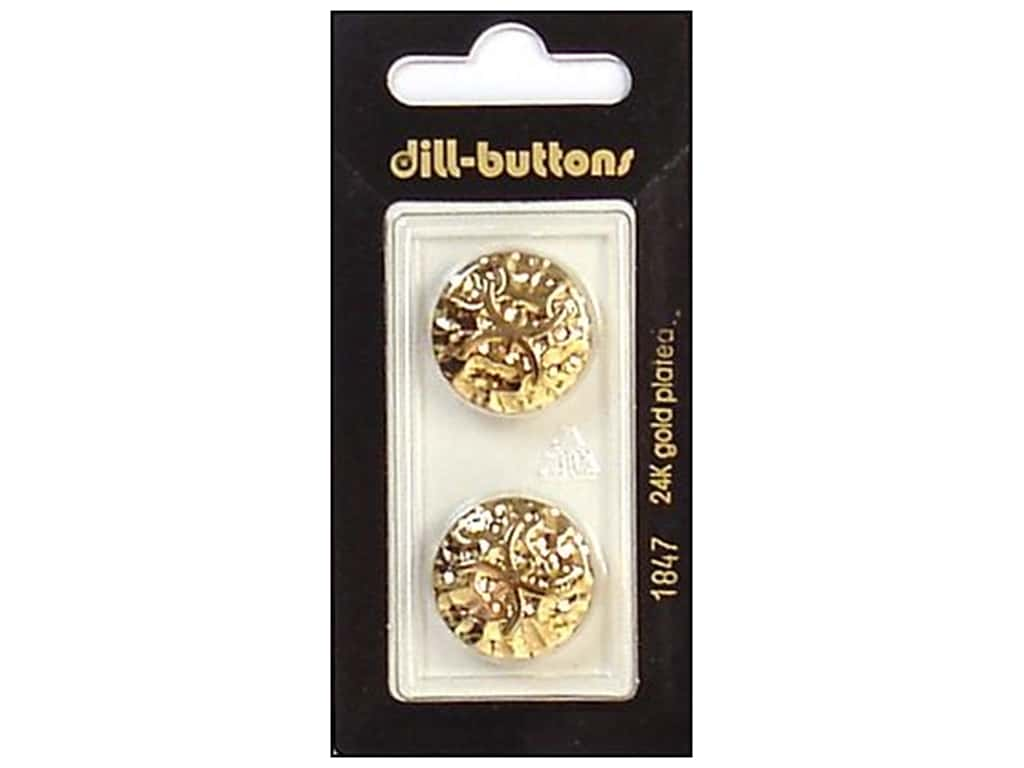 Dill Shank Buttons 13/16 in. Gold #1847 2 pc.