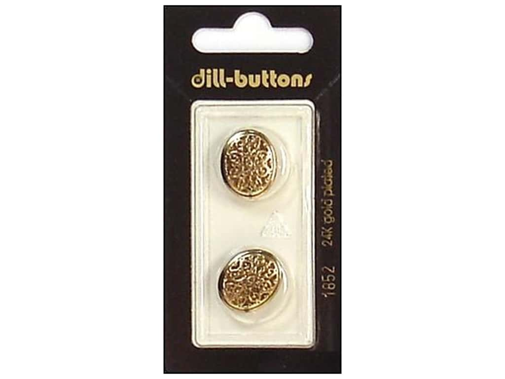 Dill Shank Buttons 11/16 in. Antique Gold #1852 2 pc.