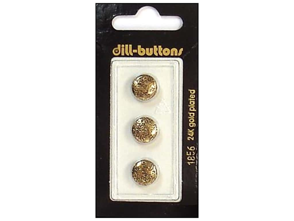 Dill Shank Buttons 7/16 in. Antique Gold #1856 3 pc.