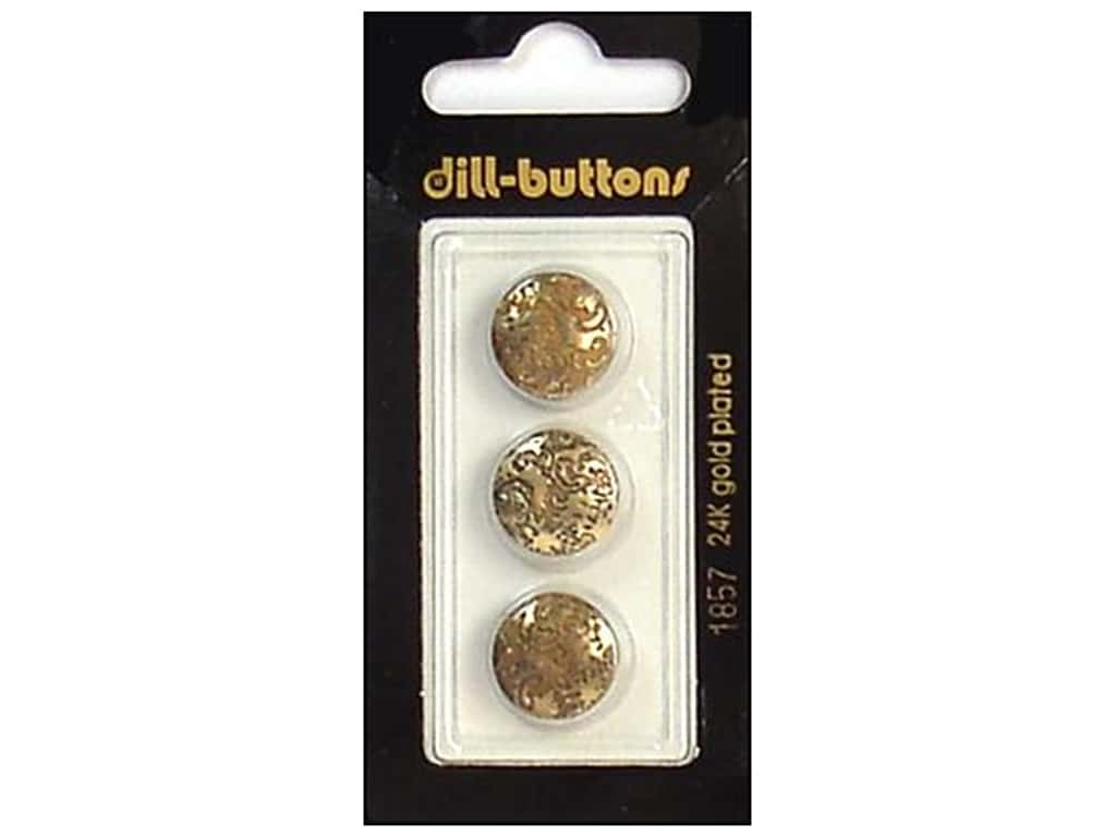 Dill Shank Buttons 9/16 in. Antique Gold #1857 3 pc.