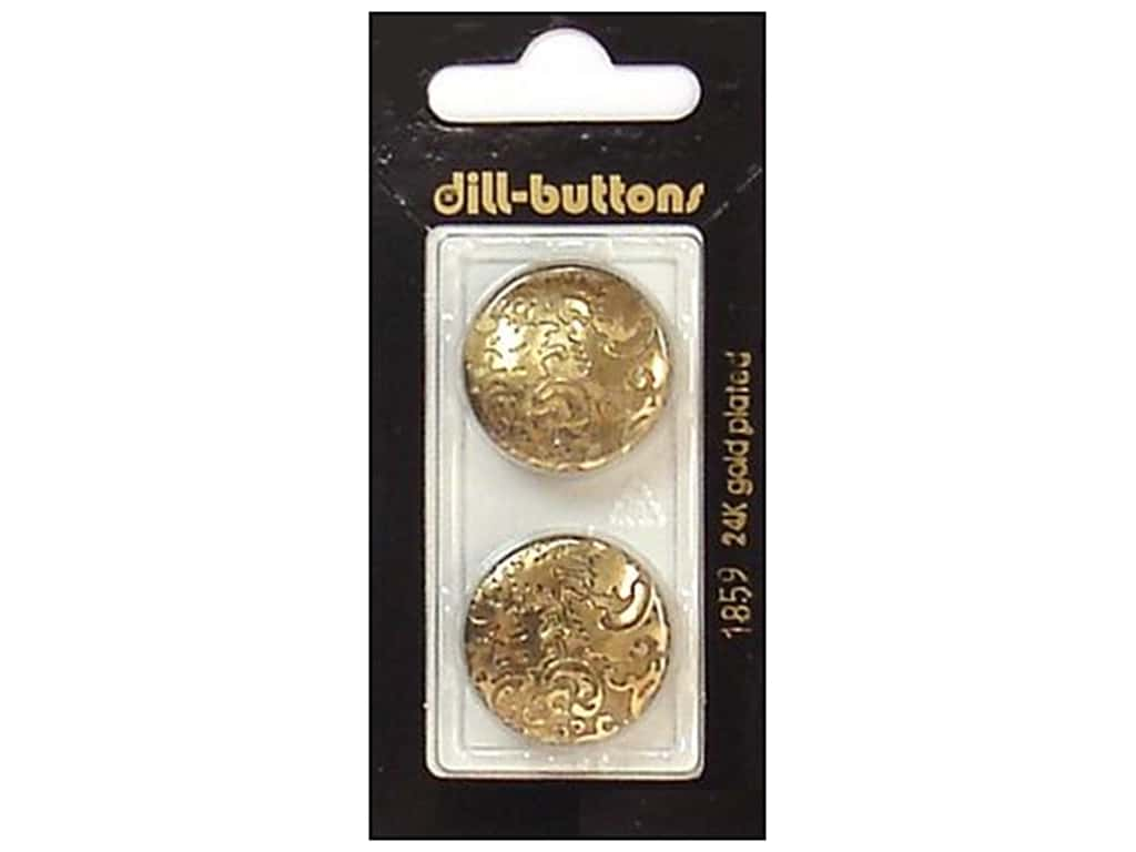 Dill Shank Buttons 7/8 in. Antique Gold #1859 2 pc.
