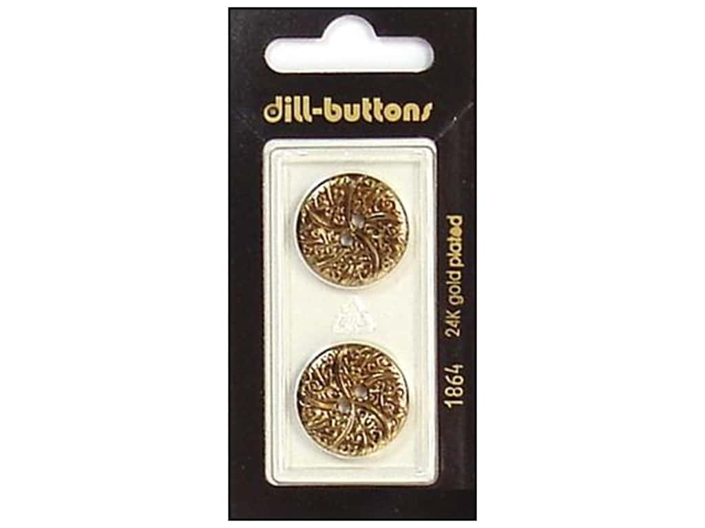 Dill Shank Buttons 13/16 in. Antique Gold #1864 2 pc.
