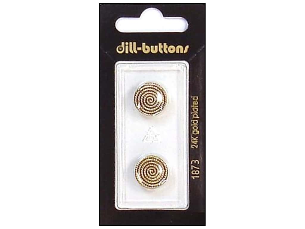 Dill Shank Buttons 9/16 in. Antique Gold #1873 2 pc.