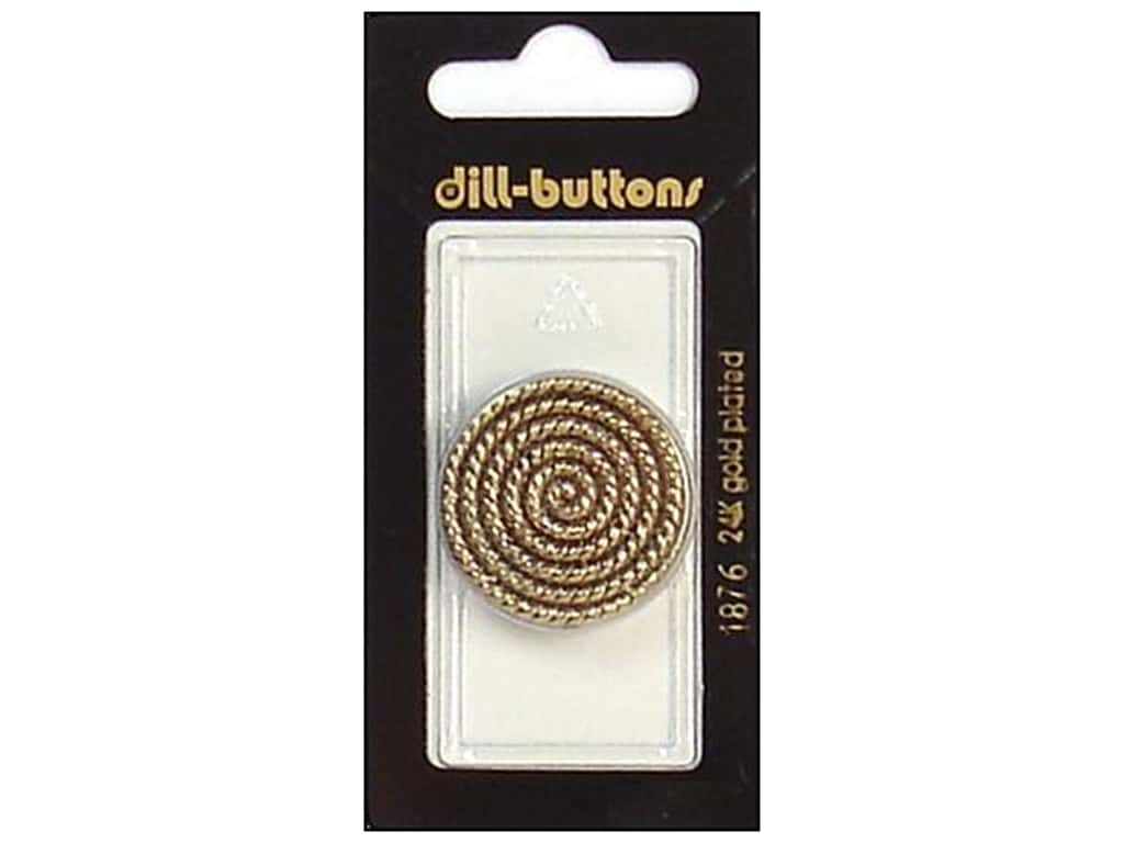 Dill Shank Buttons 1 1/8 in. Antique Gold #1876 1 pc.