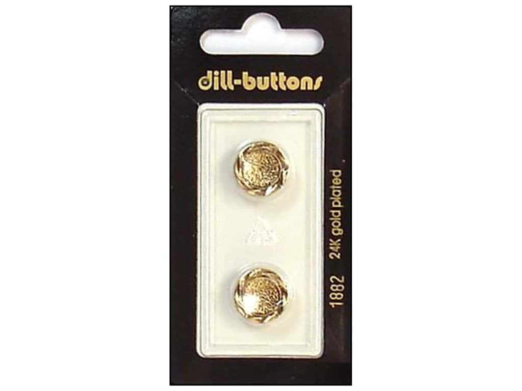 Dill Shank Buttons 9/16 in. Antique Gold #1882 2 pc.