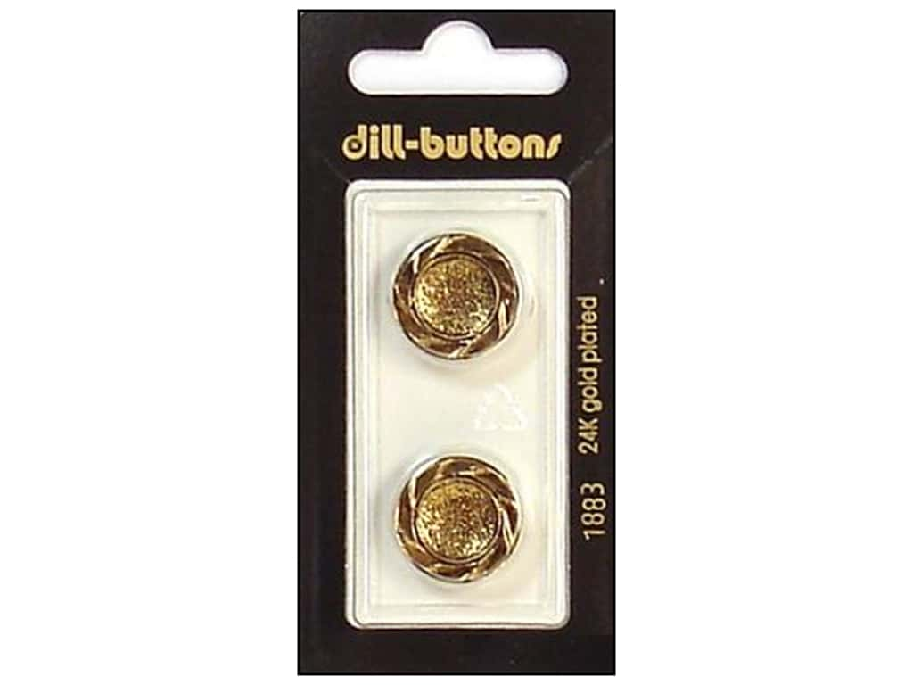 Dill Shank Buttons 11/16 in. Antique Gold #1883 2 pc.