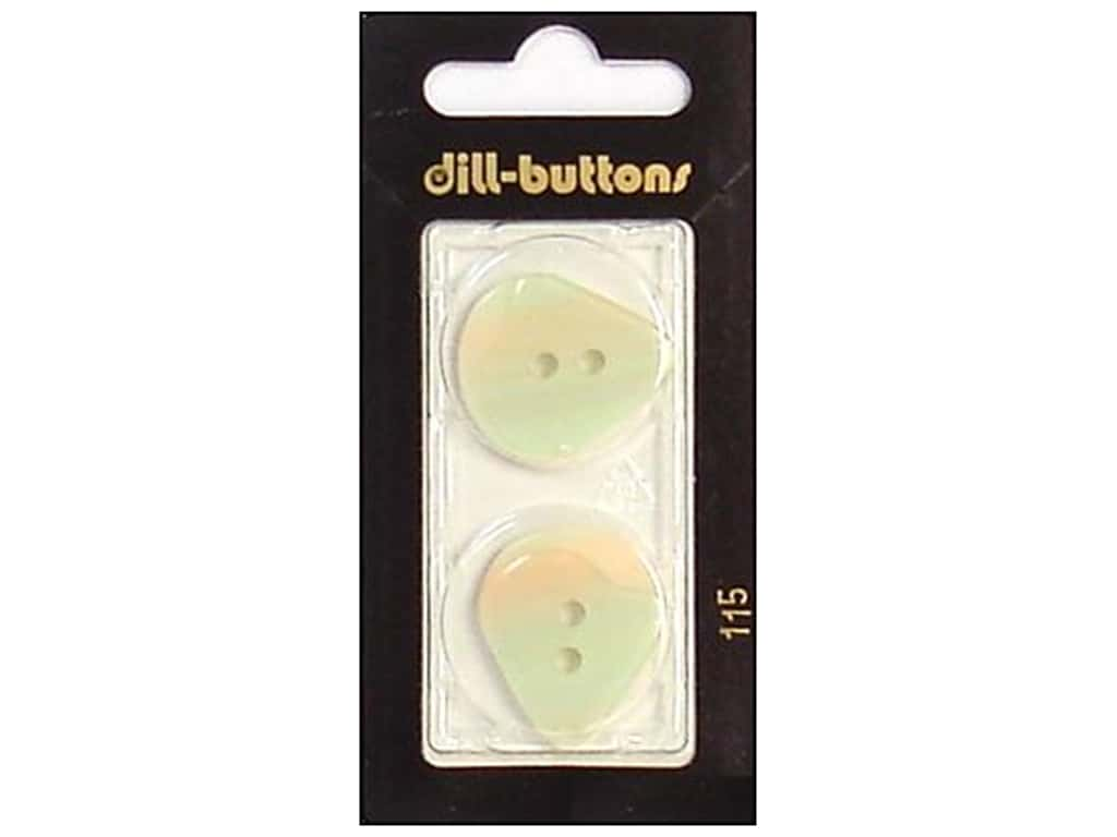 Dill 2 Hole Buttons 1 in. Iridescent White #115 2 pc.